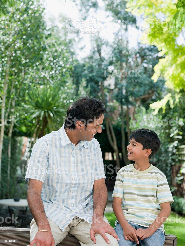 Pai e filho foto de stock royalty-free