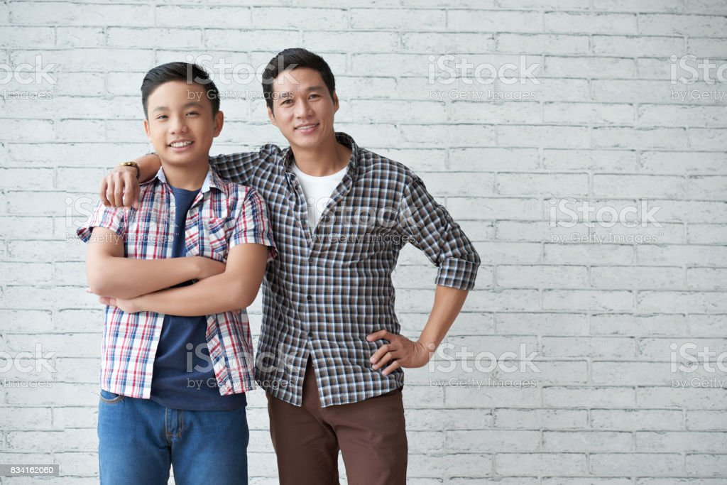 Asian Dad And Son