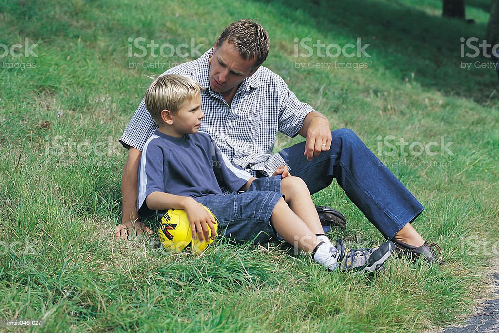 Father and son royalty free stockfoto