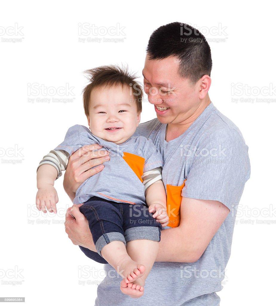 父と息子のポートレート ストックフォト