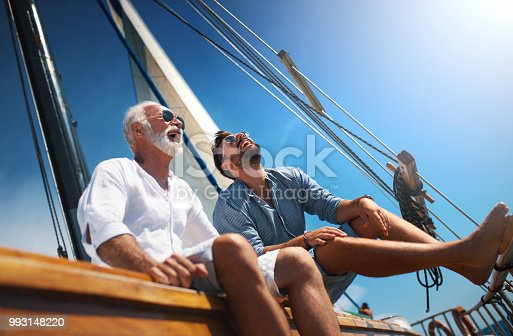 istock Father and son sailing. 993148220