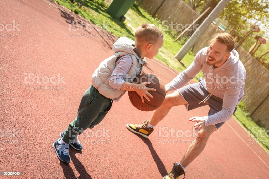 Father and son spending free time together. royalty-free stock photo