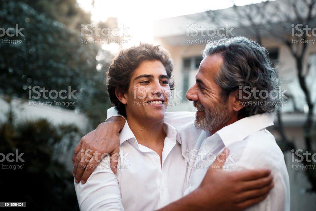 父と息子と一緒に  ストックフォト