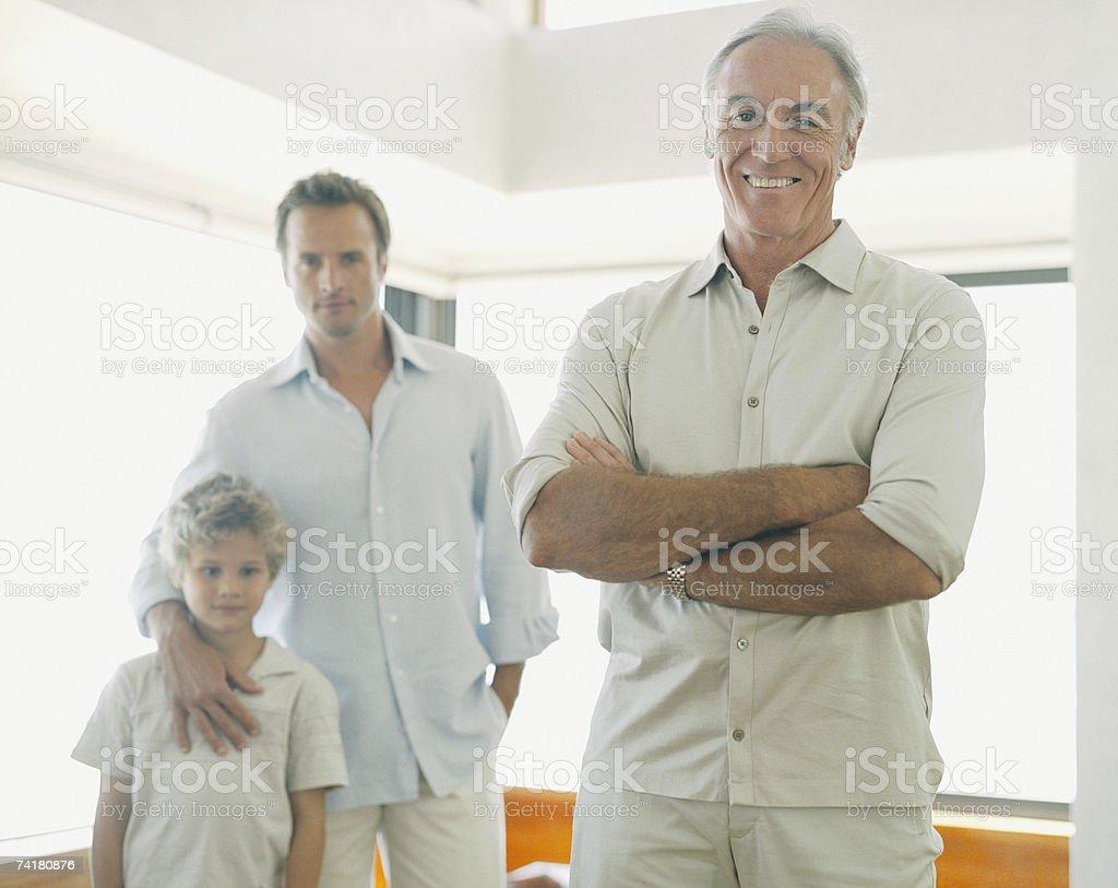 Pai e filho e Neto foto de stock royalty-free