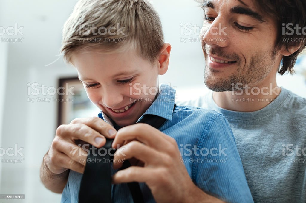 Father and Son with Tie royalty-free stock photo