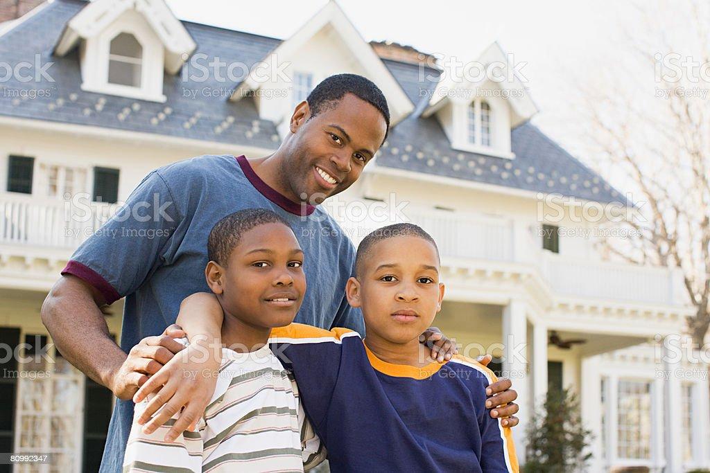 Vater und Söhne Lizenzfreies stock-foto
