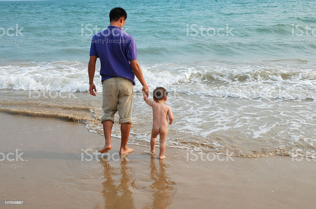 Father and toddler stock photo