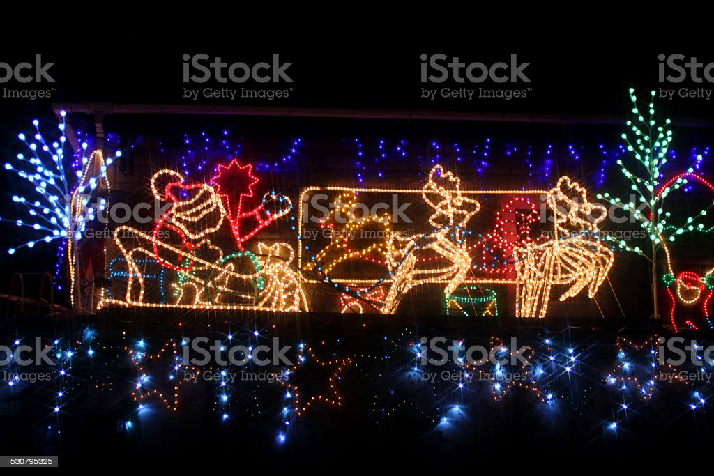Father christmas lights neon ropelight santa claus reindeer sleigh father christmas lights neon rope light santa claus reindeer sleigh royalty aloadofball Choice Image