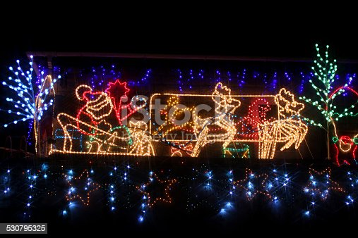 Father christmas lights neon ropelight santa claus reindeer sleigh father christmas lights neon ropelight santa claus reindeer sleigh stock photo more pictures of black color istock aloadofball Choice Image