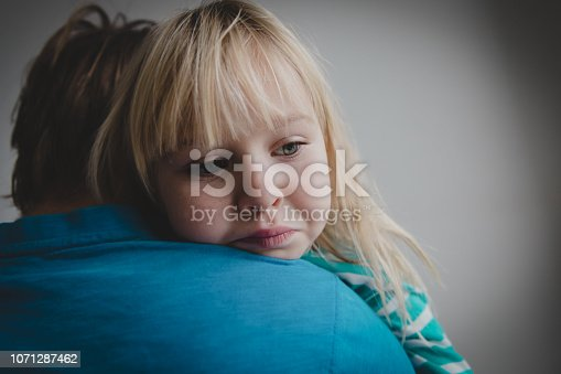 istock father comforting stressed sad daughter, parenting, support 1071287462
