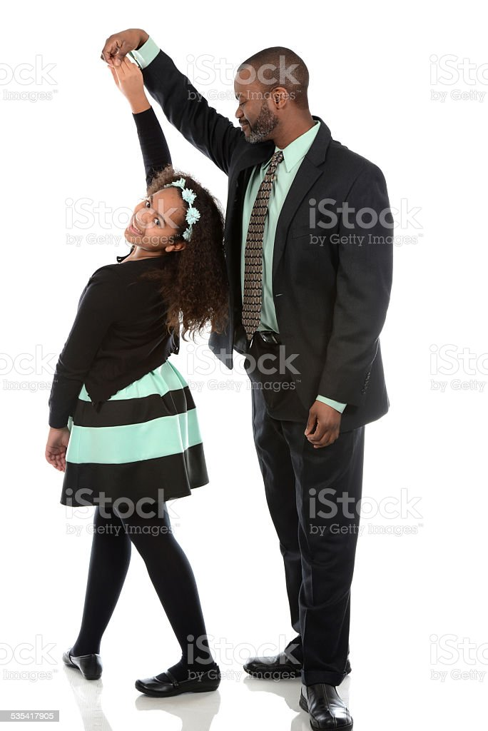 Father Daughter Dance stock photo