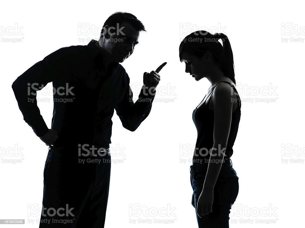 father daughter dispute conflict stock photo