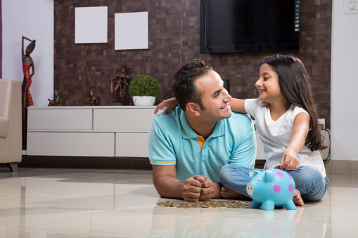At Home, Father, Daughter, love, bonding, happy,