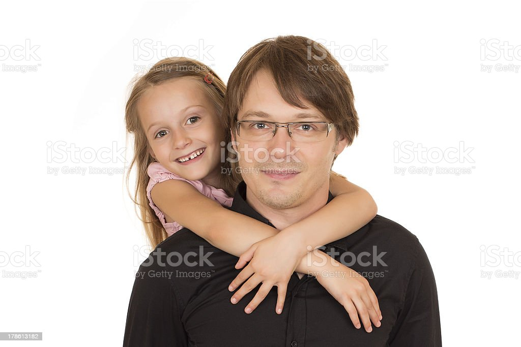 Father giving piggyback ride royalty-free stock photo