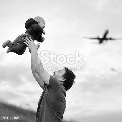 istock Father holding his baby 484126162