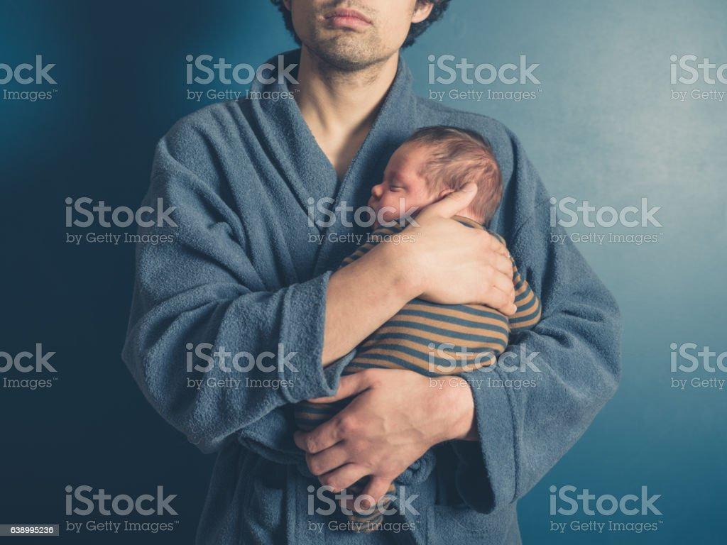 父と彼の息子を持つ赤ちゃん ストックフォト