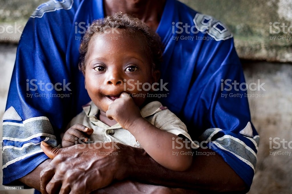 father holding his son royalty-free stock photo