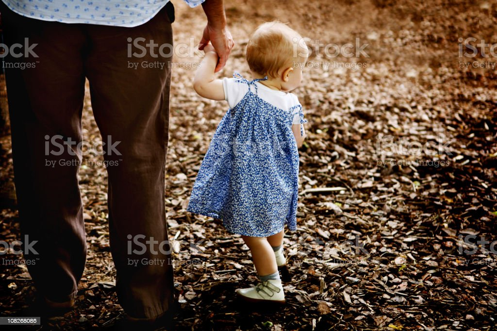 Father Holding Little Girl's royalty-free stock photo