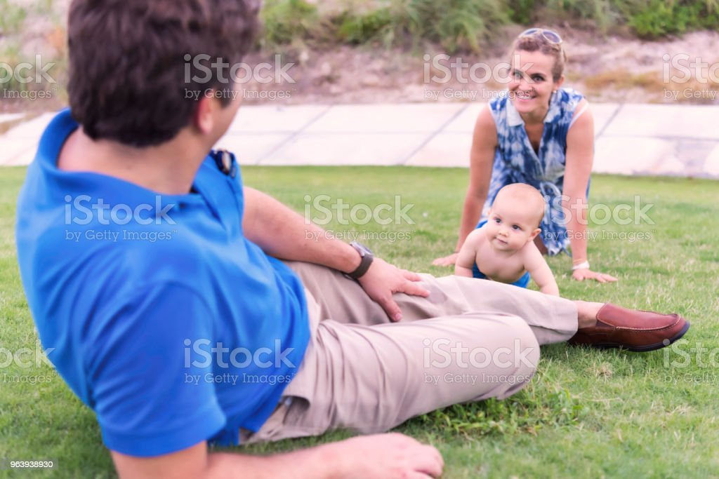 Father, mother and baby son - Royalty-free 40-49 Years Stock Photo