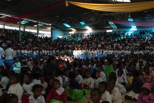 Father Pedro Opeka mass stock photo