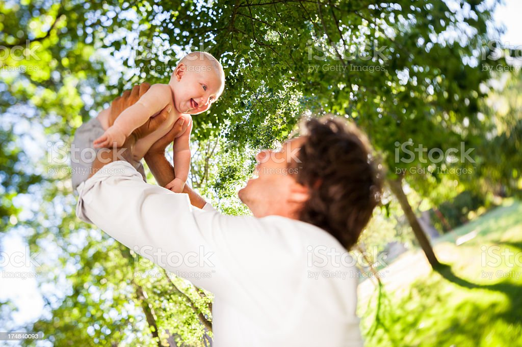 Father Playing With Baby royalty-free stock photo