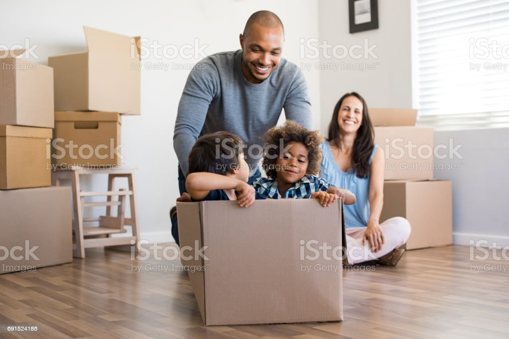 Father playing with children royalty-free stock photo