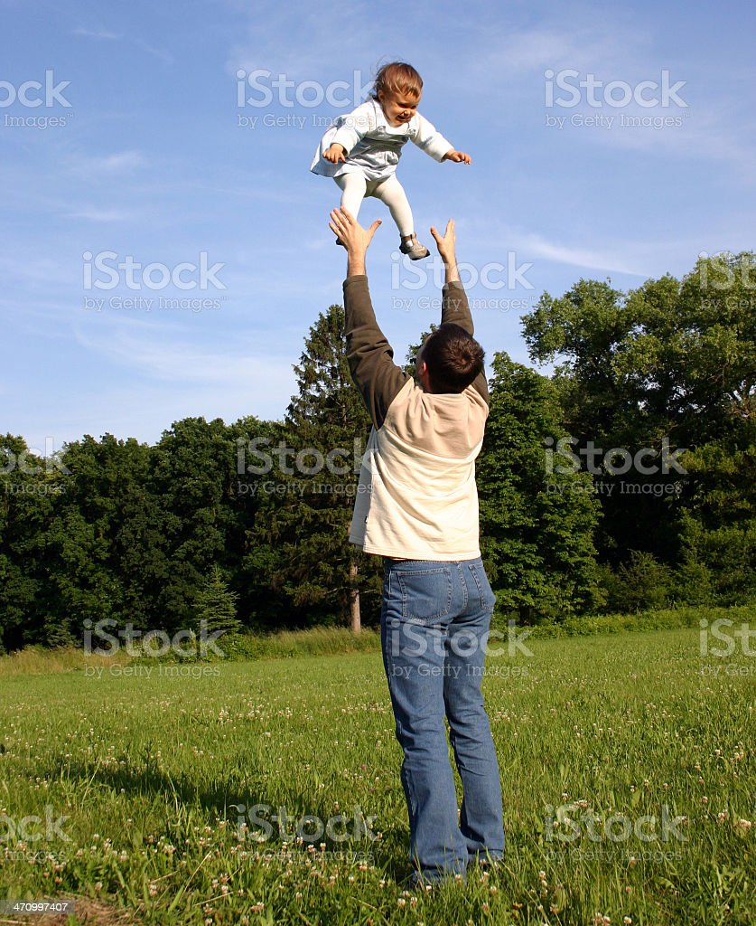 Father Playing with Kid royalty-free stock photo