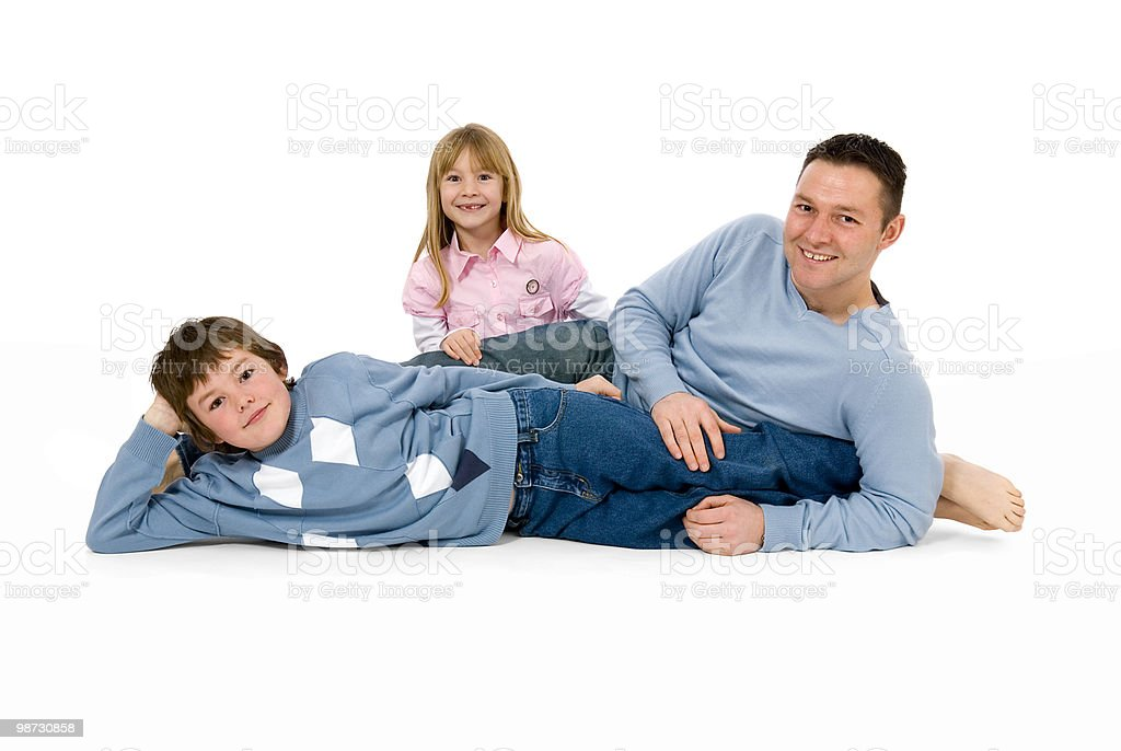 Father son and daughter, a family together royalty-free stock photo
