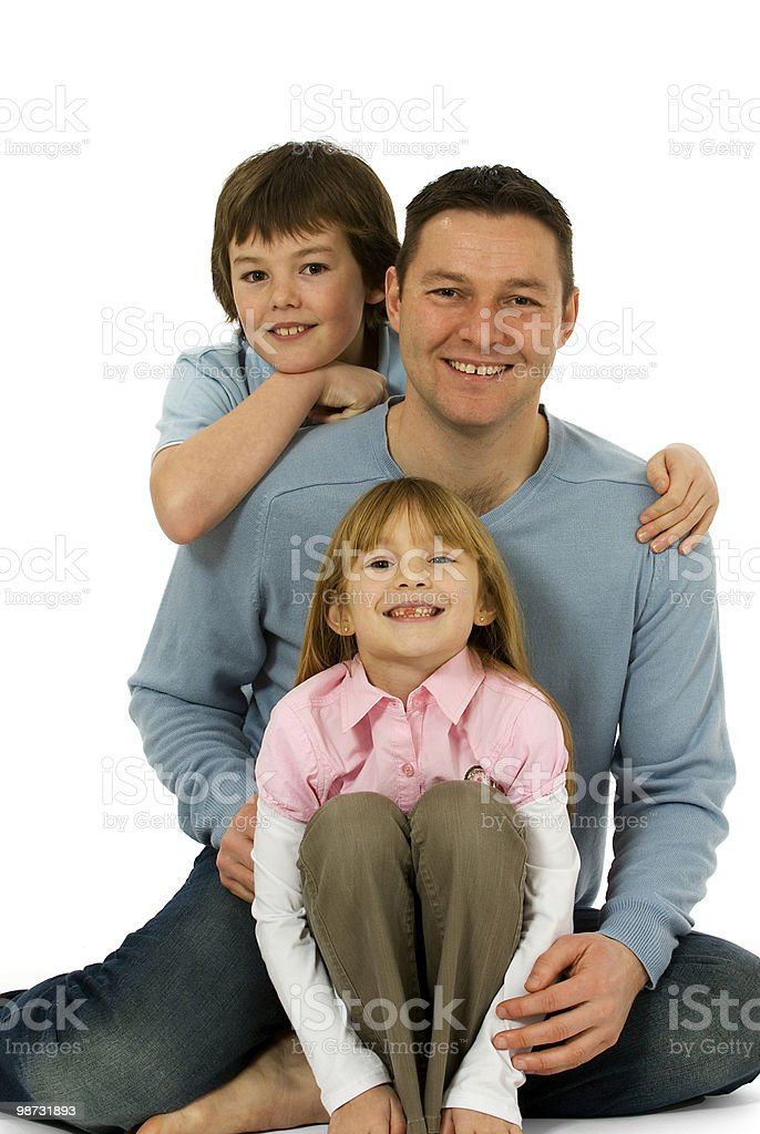 Father son and daughter, a family together 免版稅 stock photo