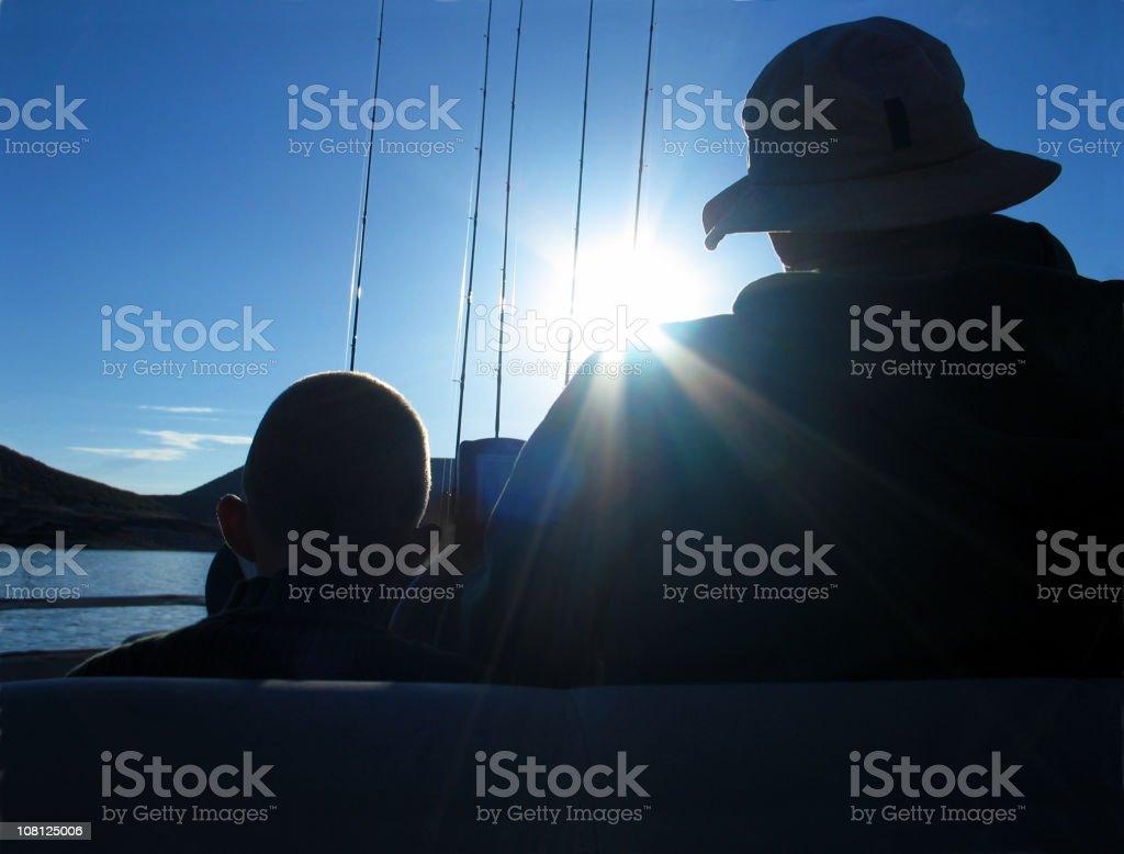Padre hijo-& viaje de pesca - foto de stock