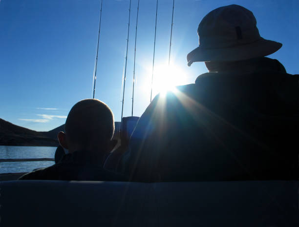 Père et fils de pêche & voyage - Photo