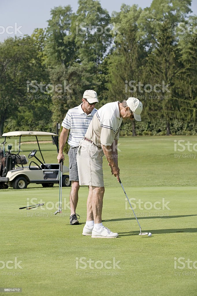Father Son Playing Golf royalty-free stock photo