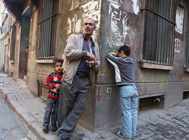Father taking a break, Istanbul stok fotoğrafı