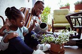 istock Father teaching his daughter how to water plants 1245116904