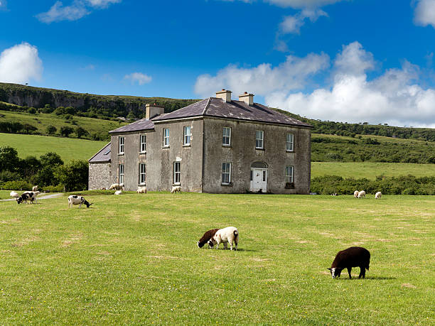 father ted parochial house, the burren, co clare, ireland - county clare stock pictures, royalty-free photos & images