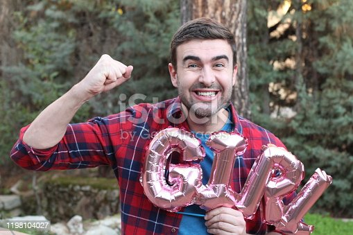 591421282 istock photo Father to be celebrating the good news 1198104027