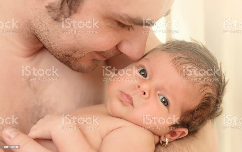 father with baby girl stock photo