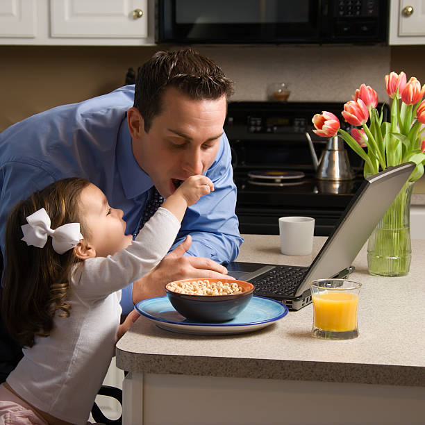 Father with daughter. stock photo