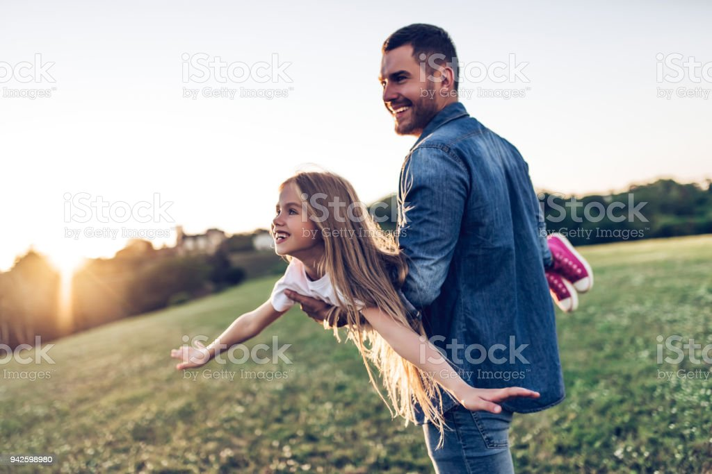 Father with daughter stock photo