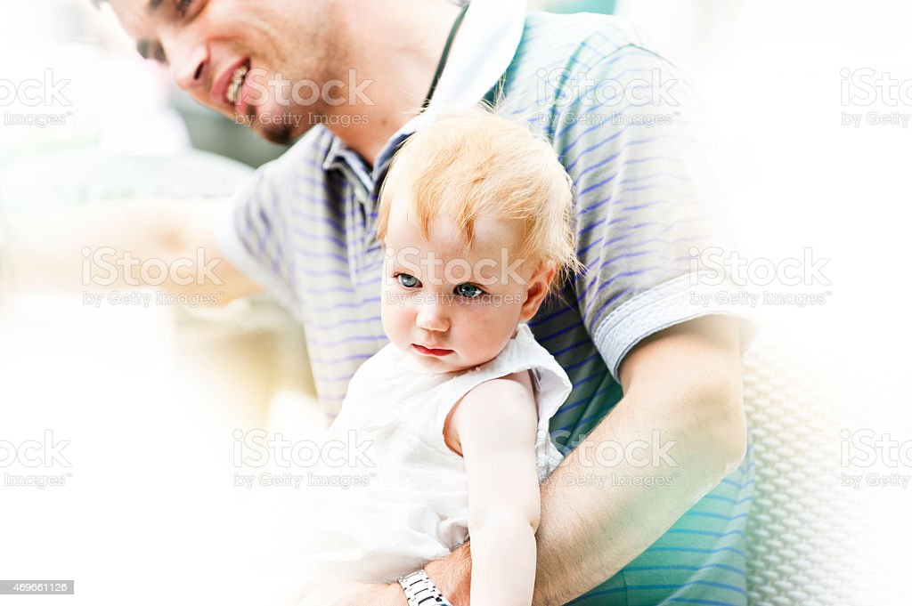 Father with his little daughter stock photo
