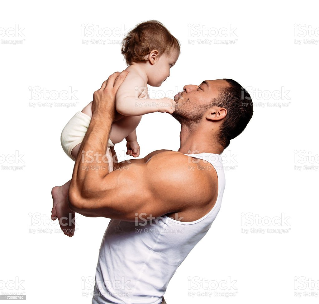 Father with lovely daughter stock photo