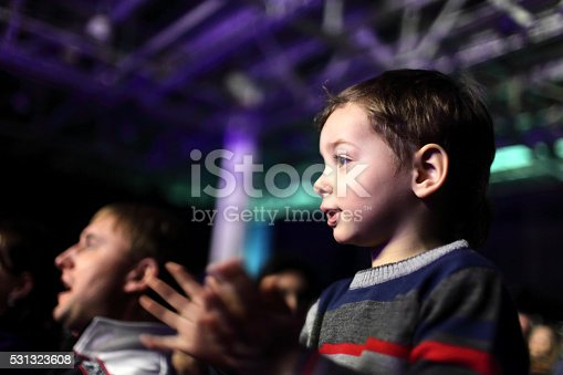 istock Father with son at a concert 531323608