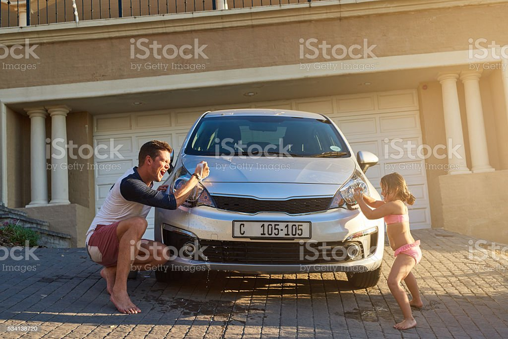 Fatherhood and childhood stock photo