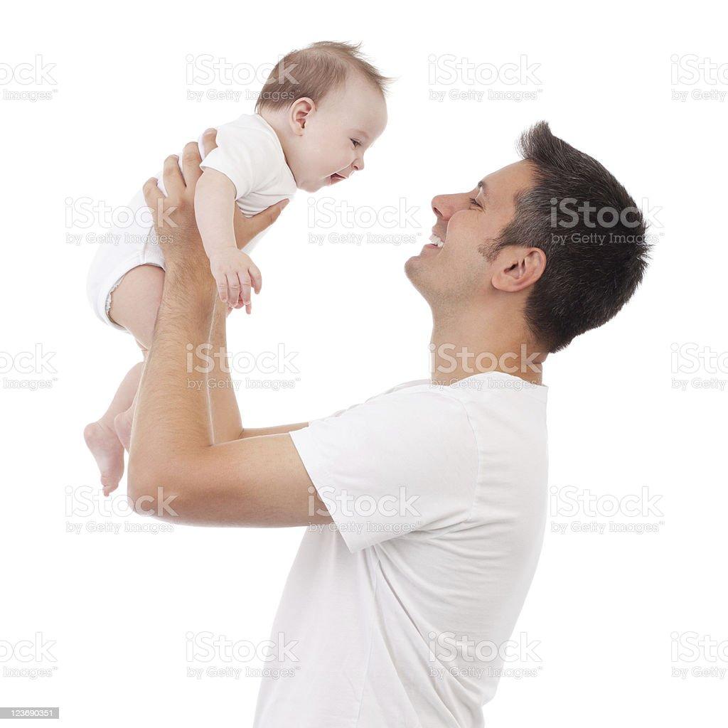 Fatherhood is great! stock photo