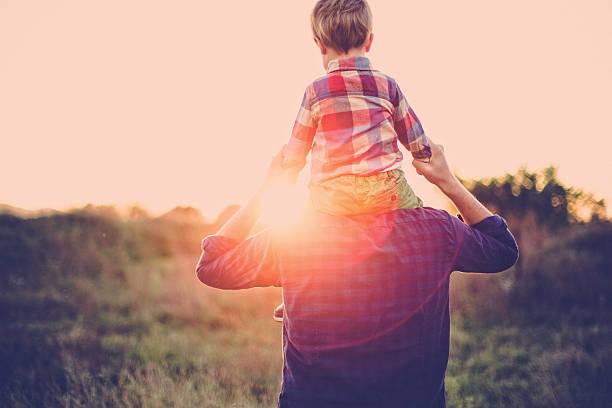 Fatherhood stock photo
