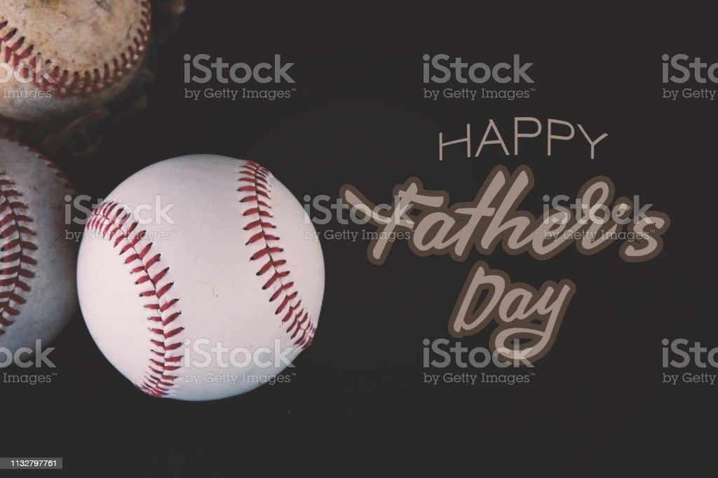 Father's Day baseball graphic stock photo