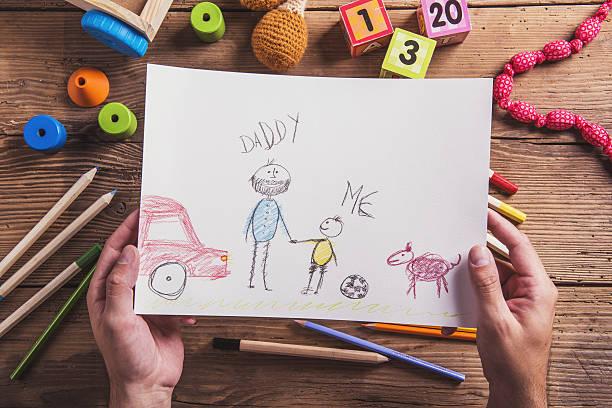 composição de dia dos pais - cachorro desenho - fotografias e filmes do acervo