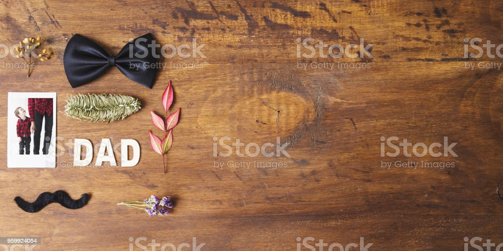 Fathers day composition with copyspace stock photo