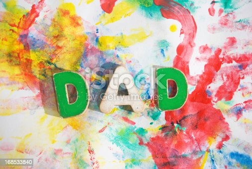 istock fathers day concept; dad blotchy colors background artwork tribu 168533840