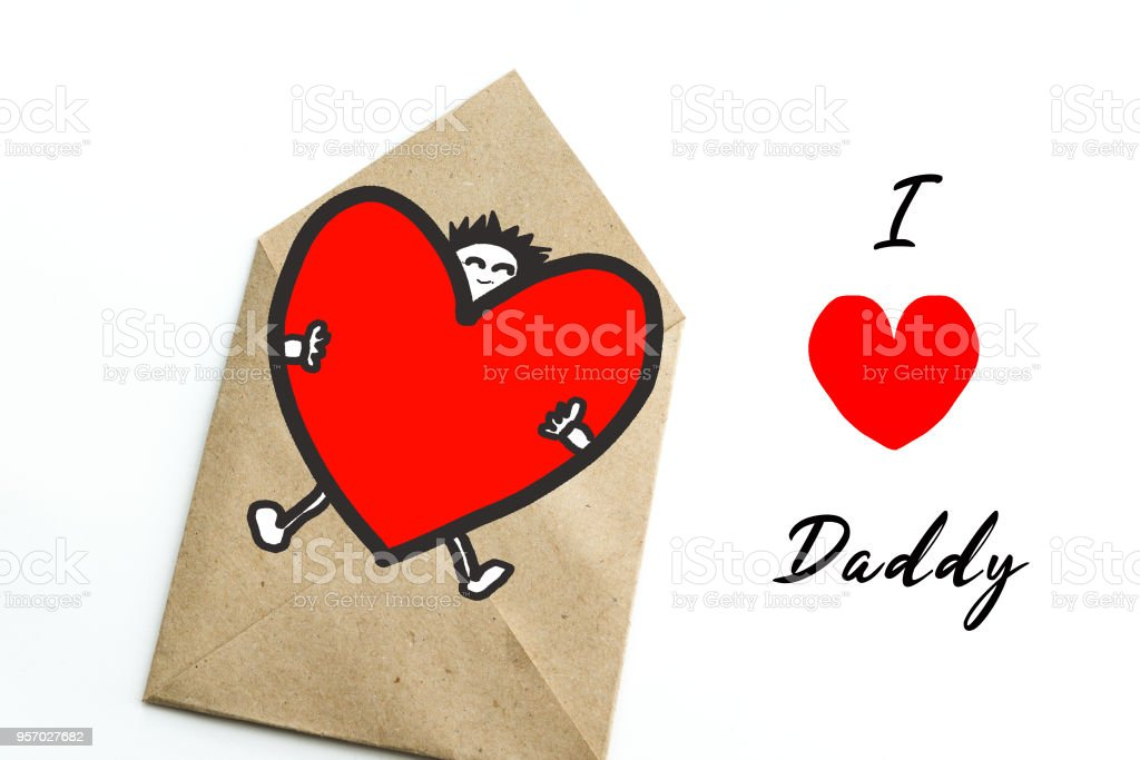 Fathers day gift card with word i love daddy greeting card stock fathers day gift card with word i love daddy greeting card royalty free stock m4hsunfo